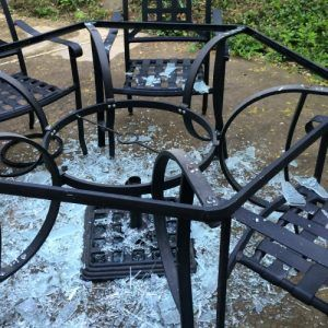 Glass table top repair Nutfield